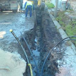 """Уличен водопровод PN90 PEHD, PE100, PN10 за водоснабдяване на """"Еднофамилна жилищна сграда с допълващо застрояване"""""""